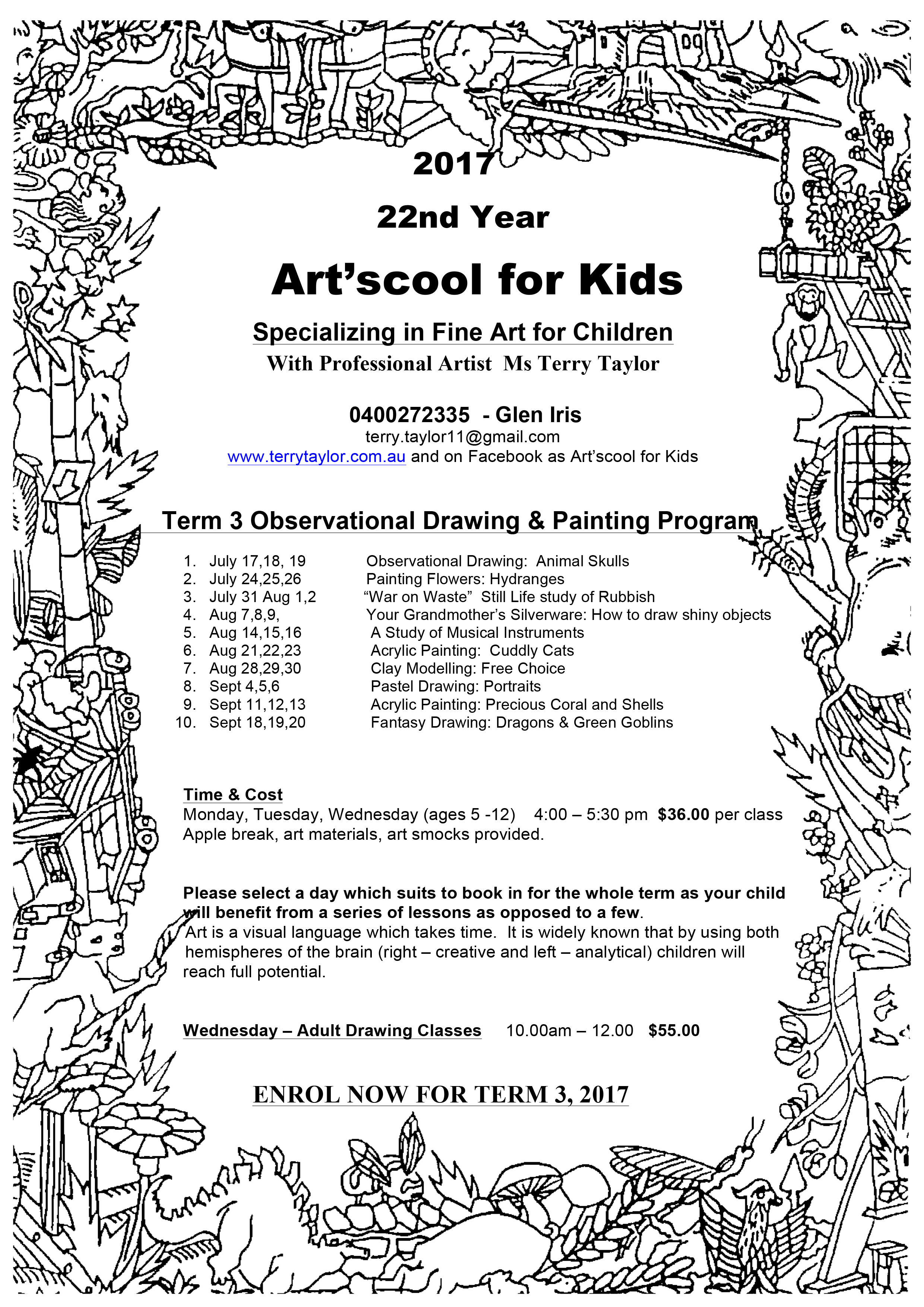 Melbourne artscool for kids term 3 2017 izmirmasajfo