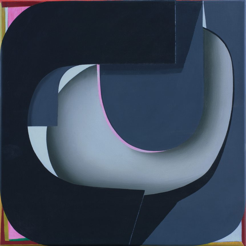 MARIE HAGERTY | Focus | Acrylic and oil on linen | 35 x 35cm | WINNER 2012 | NFS